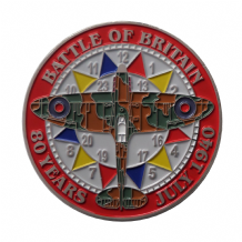 Battle of Britain 80th Anniversary Spitfire Clockface Commemorative Coin